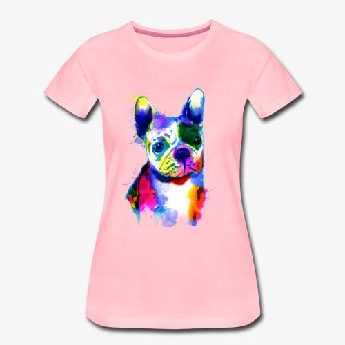 Französische Bulldogge I Der bunte Hund - Frauen Premium T-Shirt