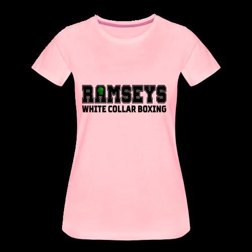 Ramseys White Collar Boxing Black Logo - Women's Premium T-Shirt