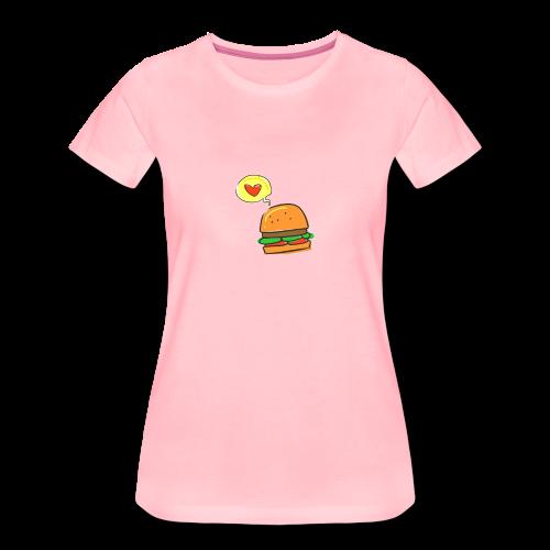 Love Burger - Frauen Premium T-Shirt