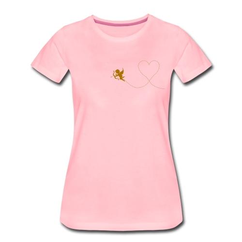 Amor Engel mit Herz, bereit dich zu verkuppeln - Frauen Premium T-Shirt