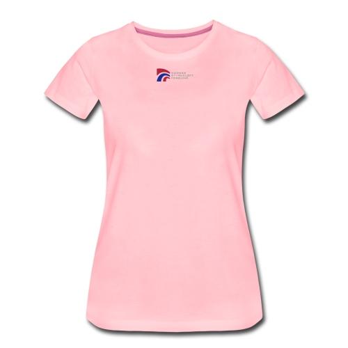 nsf logo og txt - Premium T-skjorte for kvinner