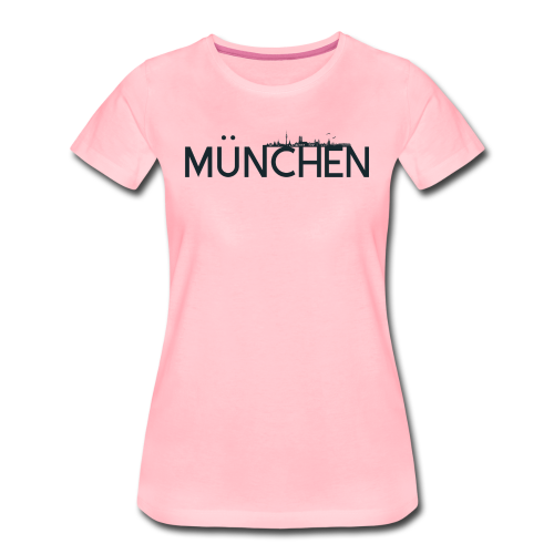 München Logo mit Skyline - Frauen Premium T-Shirt