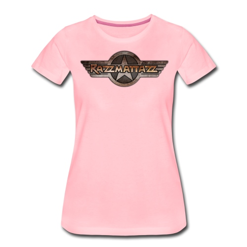 Razzmattazz Logo Fluegel und Schriftzug png - Frauen Premium T-Shirt