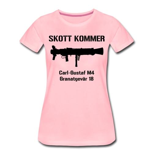 SKOTT KOMMER - KLART BAKÅT - SWE Flag - Premium-T-shirt dam