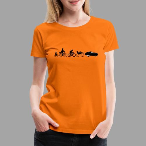Bicycle evolution black - Naisten premium t-paita