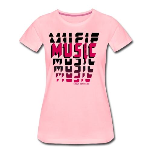 Music is all i need - Frauen Premium T-Shirt