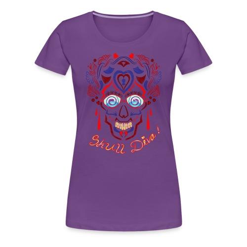 Skull Tattoo Art - Women's Premium T-Shirt
