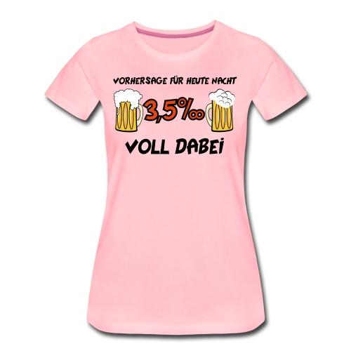 Vorhersage 3,5 Promille - Frauen Premium T-Shirt