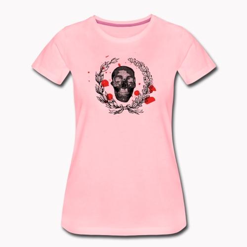 Tête de mort et tâches de sang - T-shirt Premium Femme