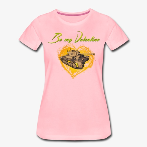 Glowing Valentine Heart - Frauen Premium T-Shirt