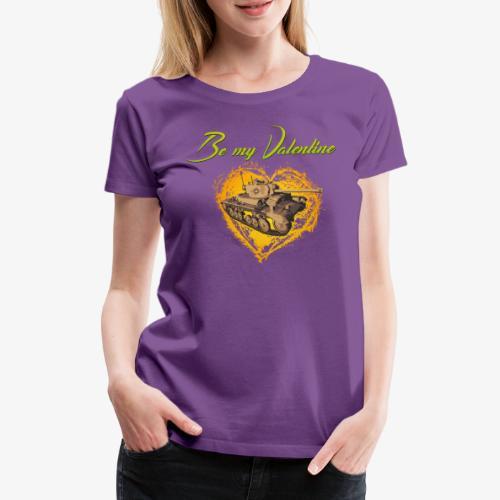 Glowing Valentine Heart - Frauen Premium T-Shirt