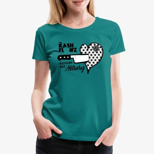 Nothing But Misery Knife Heart Black - T-shirt Premium Femme