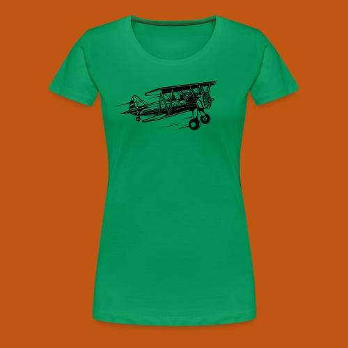 Flieger / Airplane 01_schwarz - Frauen Premium T-Shirt