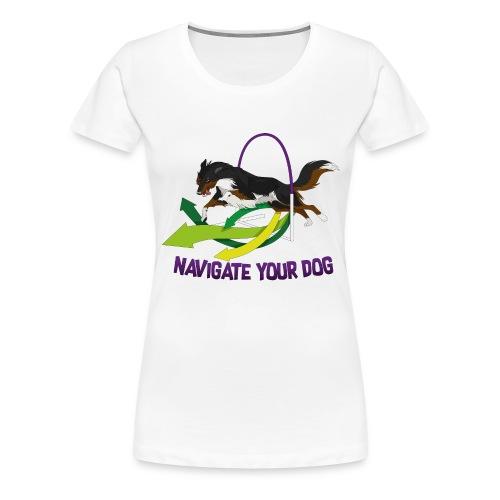 *nyd* Logo (für hellen Untergrund) - Frauen Premium T-Shirt