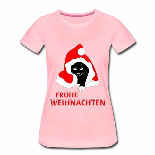 Frohe Weihnachten - Schwarze Katze - Women's Premium T-Shirt