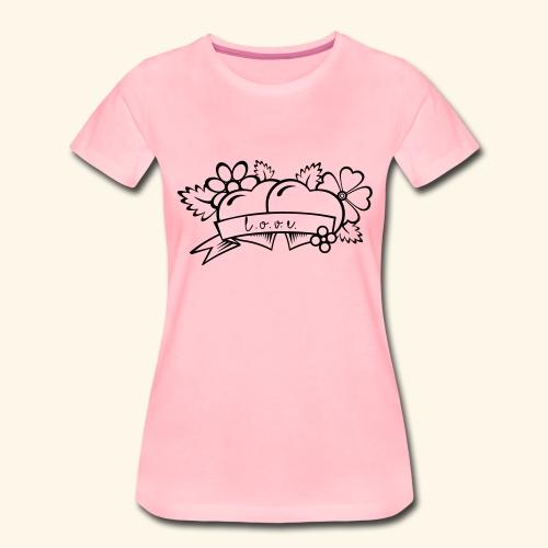 l ov e - Koszulka damska Premium