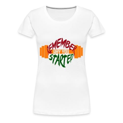 fitness draw - T-shirt Premium Femme