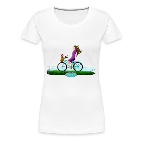 BICICLETA - Camiseta premium mujer