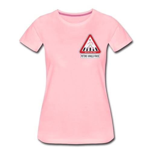 Berck-sur-mer: Piétons Vanille-Fraise - T-shirt Premium Femme