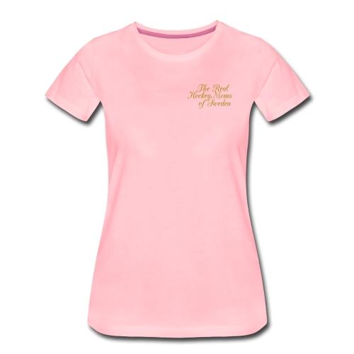 Hockey Moms Sweden Gold - Premium-T-shirt dam