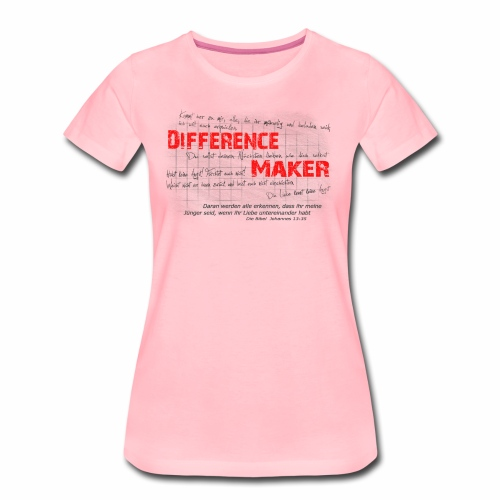 Difference Maker dunkel - Frauen Premium T-Shirt
