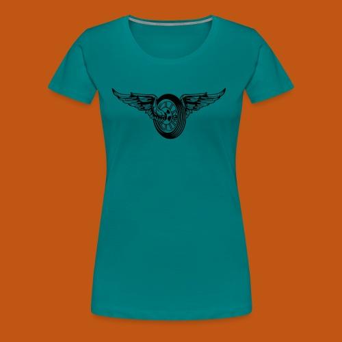 Motorrad / Moped Rad / Angel Wheel 01_schwarz - Frauen Premium T-Shirt