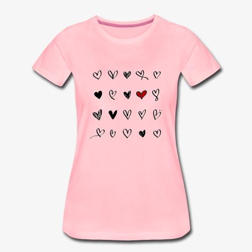 valentines hearts - T-shirt Premium Femme