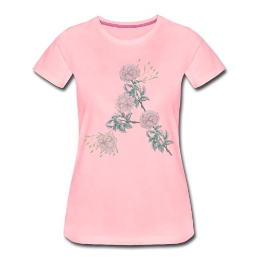 Rose pattern A - Dam - Women's Premium T-Shirt