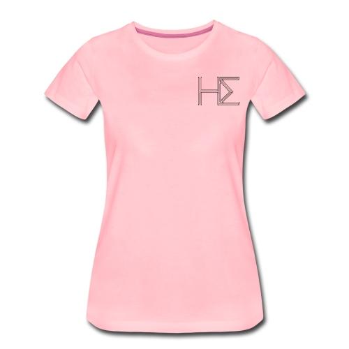 he logo circuit transp bl - Women's Premium T-Shirt