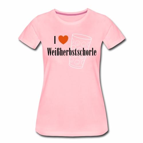 I ♥ Weißherbstschorle - Frauen Premium T-Shirt