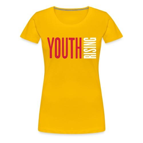 1br rev youth rising white - Women's Premium T-Shirt