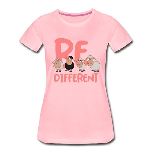 Be different pinke Schafe - Einzigartige Schafe - Frauen Premium T-Shirt
