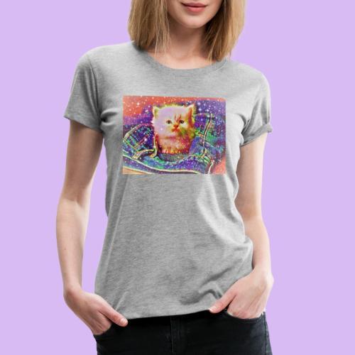 Gattino scintillante nella tasca dei jeans - Maglietta Premium da donna