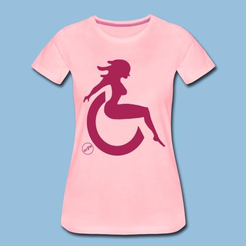 Sexywheelchairlady1 - Vrouwen Premium T-shirt