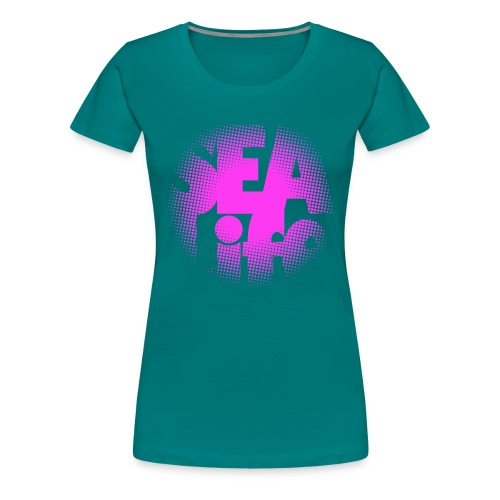 Sealife surfing tees, clothes and gifts FP24R01B - Naisten premium t-paita