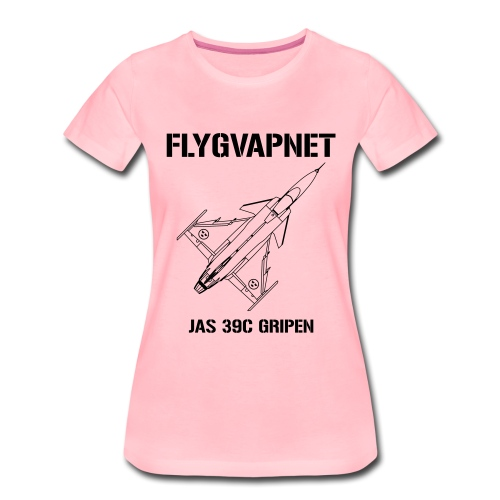 FLYGVAPNET - JAS 39C - Premium-T-shirt dam