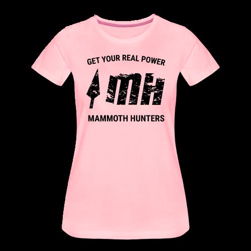 Mammoth Hunters / Negro - Camiseta premium mujer