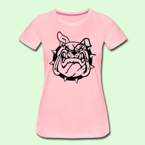 Bulldog souriant - T-shirt Premium Femme