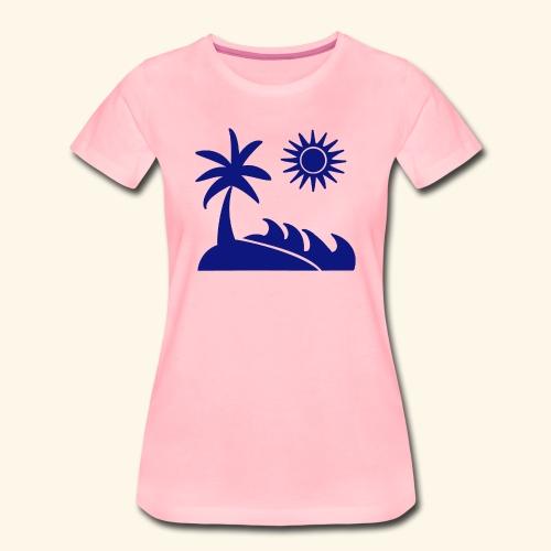 Palme, Meer, Sonne, Strand - Frauen Premium T-Shirt