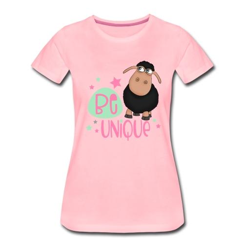 schwarzes Schaf: Sei einzigartig - unique Schaf - Frauen Premium T-Shirt