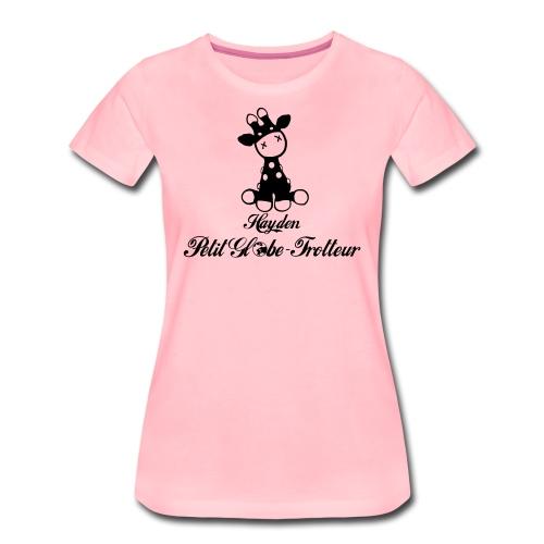Hayden petit globe trotteur - T-shirt Premium Femme