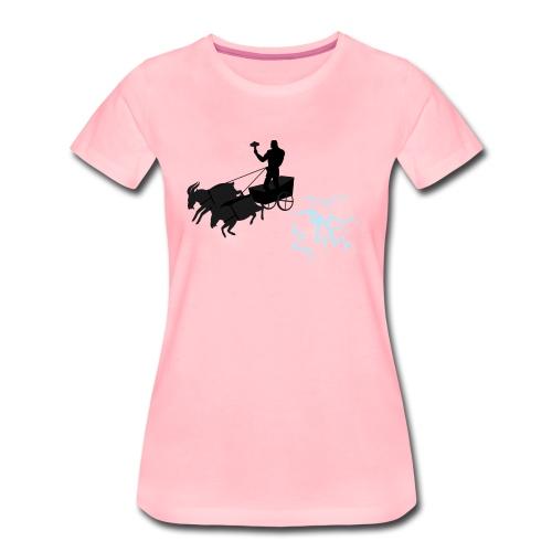 Åktor blå - Premium-T-shirt dam