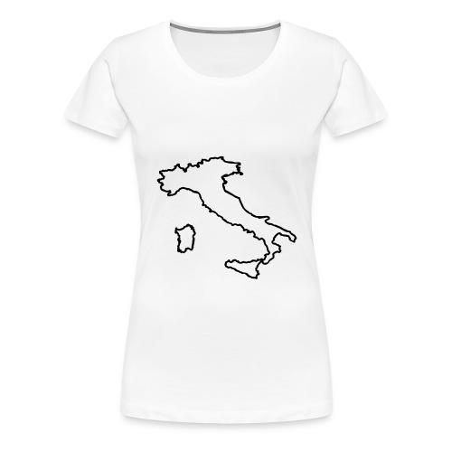Italien Umriss - Frauen Premium T-Shirt