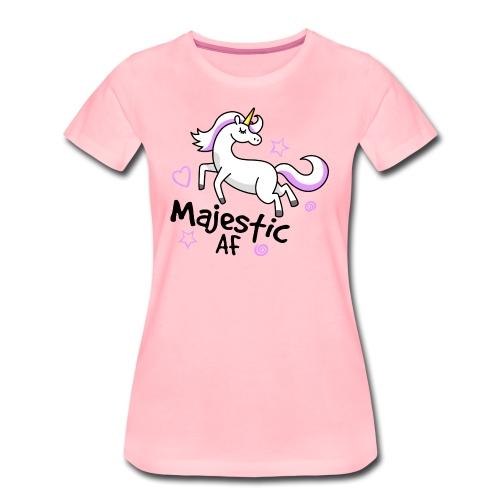 Majestic AF Unicorn - Women's Premium T-Shirt