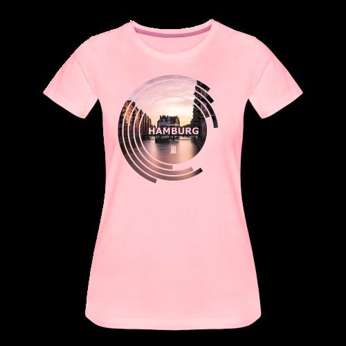 Hamburg Geometrische Form Kreis Spectrum - Frauen Premium T-Shirt