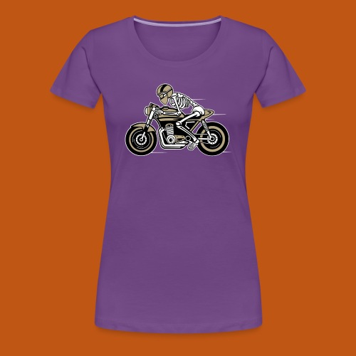 Cafe Racer Motorrad 05_dreifarbig - Frauen Premium T-Shirt