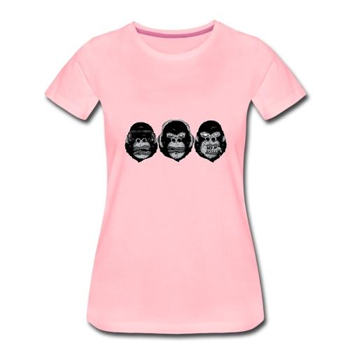 3 Affen - Frauen Premium T-Shirt