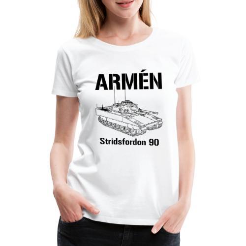 Armén Stridsfordon 9040 - Premium-T-shirt dam