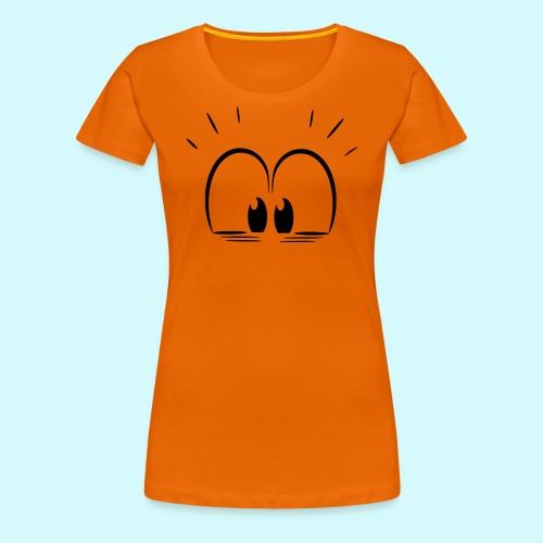 Überraschung Blick - Frauen Premium T-Shirt