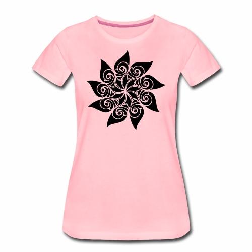 Rosace fleur - T-shirt Premium Femme